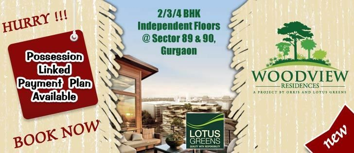 lotus green Woodview residences project is a dream project in Gurgaon. Woodview project is providing luxury flats, underground parking, club house, and swimming pool in this city. Woodview project is a upcoming project in sec 89 Gurgaon.  So do fast and book your flat and apartment.