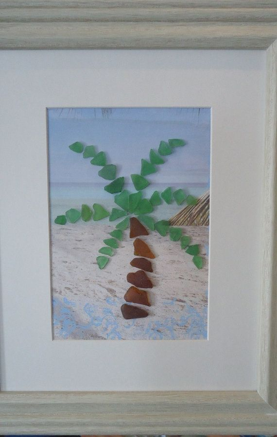 Beach Glass Palm Tree by beachbumglasscottage on Etsy, $38.00