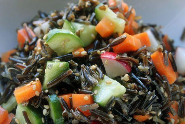 Farmer's Market Wild Rice Salad with Miso Dressing