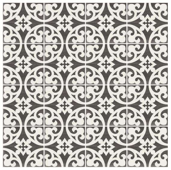 Vinyl floor tile sticker floor decals carreaux ciment - Stickers carreaux de ciment ...