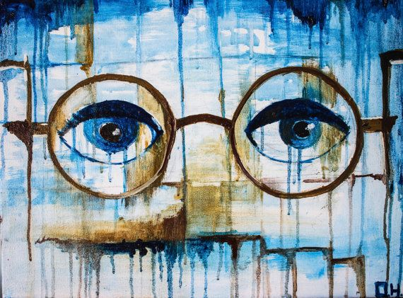 Dr. Eckleburg eyes oil painting Great Gatsby by TheCupOfArt