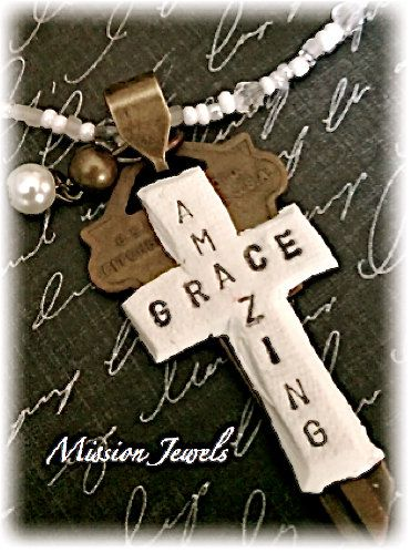 Polymer Clay Jewelry  Vintage Key and Cross by MissionJewels, $28.00