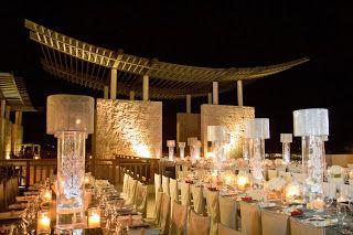 Reception Set Up at the Lobby Terrace- Banyan Tree Mayakoba