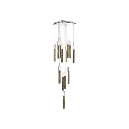 Avenue Lighting Polished Chrome LED Multi-Light Pendant with Cylindrical Shade | HF1905-13-GL-CH | Destination Lighting