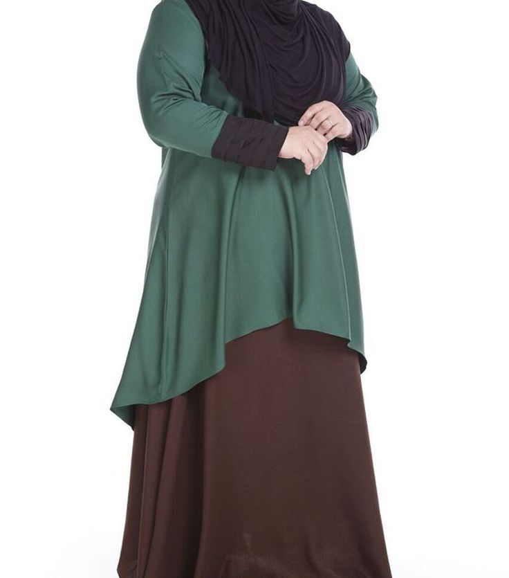 Dress labuh muslimah plus size