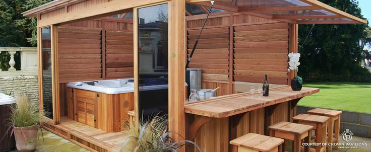 176 best images about creative backyard fence ideas on pinterest fence idea - Jacuzzi en bois exterieur ...