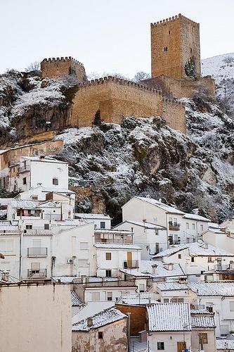 Nieve en el Castillo de la Yedra (Cazorla),  Andalucia  Spain