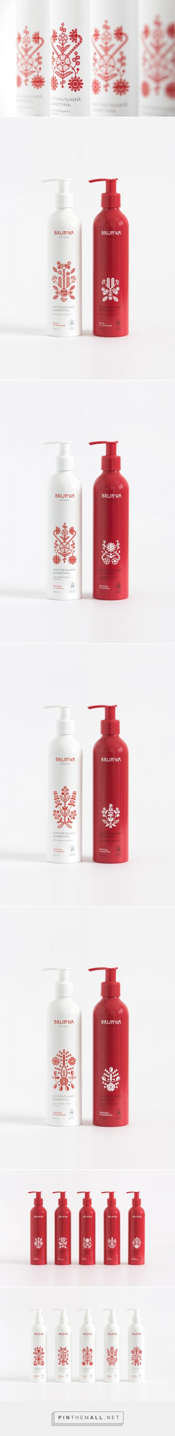 Brun'ka  / organic cosmetics packaging design by Yurko Gutsulyak