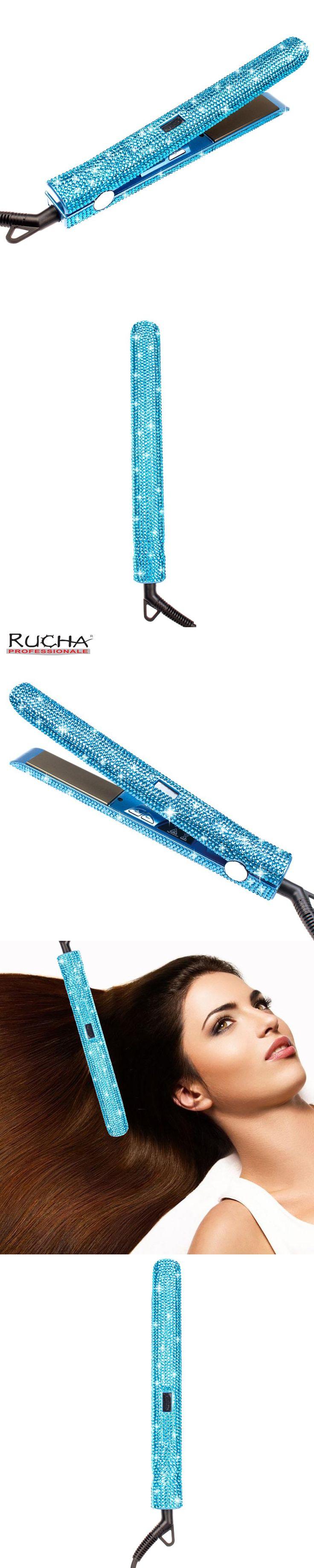 2017 New Rhinestones Handmade 470F Hair Straightener with MCH Fast Heating Electric Titanium Flat Iron as Hair Styling Tools