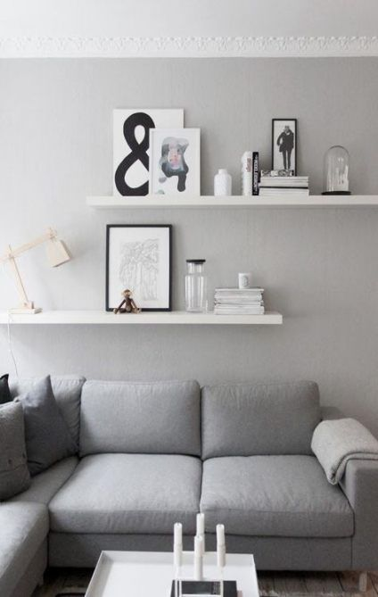 28+ Ideas living room shelves above couch small spaces