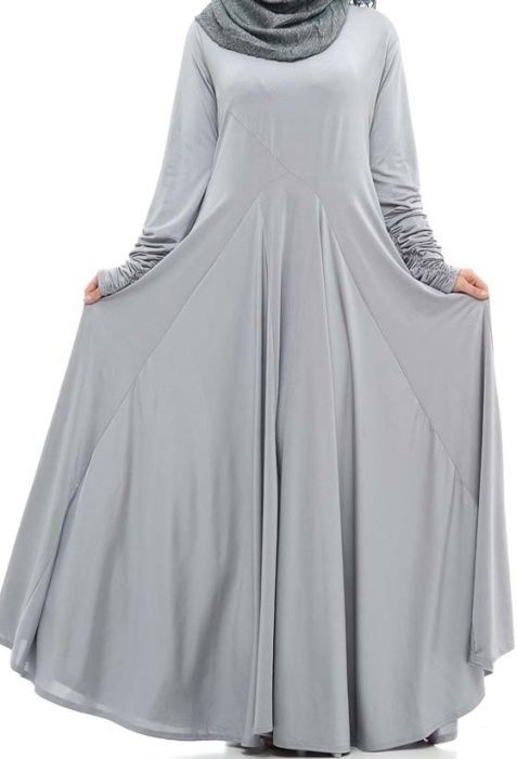 Impressive collection of abaya with flare designs  (10)