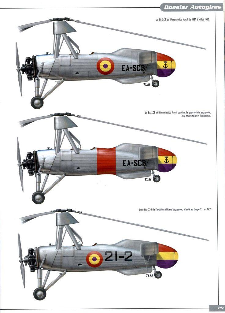 Autogiros EA-SCB y C.30 - España