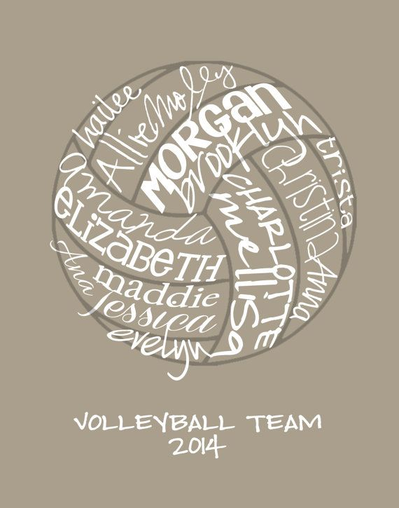 Volleyball... Typography Art by lesleygracedesigns on Etsy