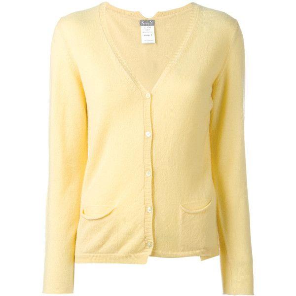 Kristensen Du Nord V-neck Cardigan ($610) ❤ liked on Polyvore featuring tops, cardigans, cashmere top, v-neck cardigan, cashmere cardigan, v-neck top and cashmere v neck cardigan