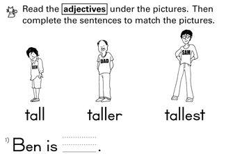 Resultado de imagen de comparative exercises for kids