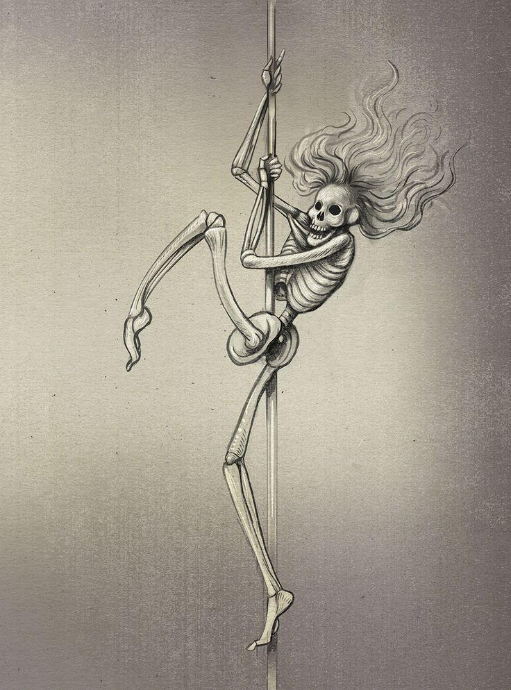 Dancing Death dance, pole, death, poledance, bone, moving