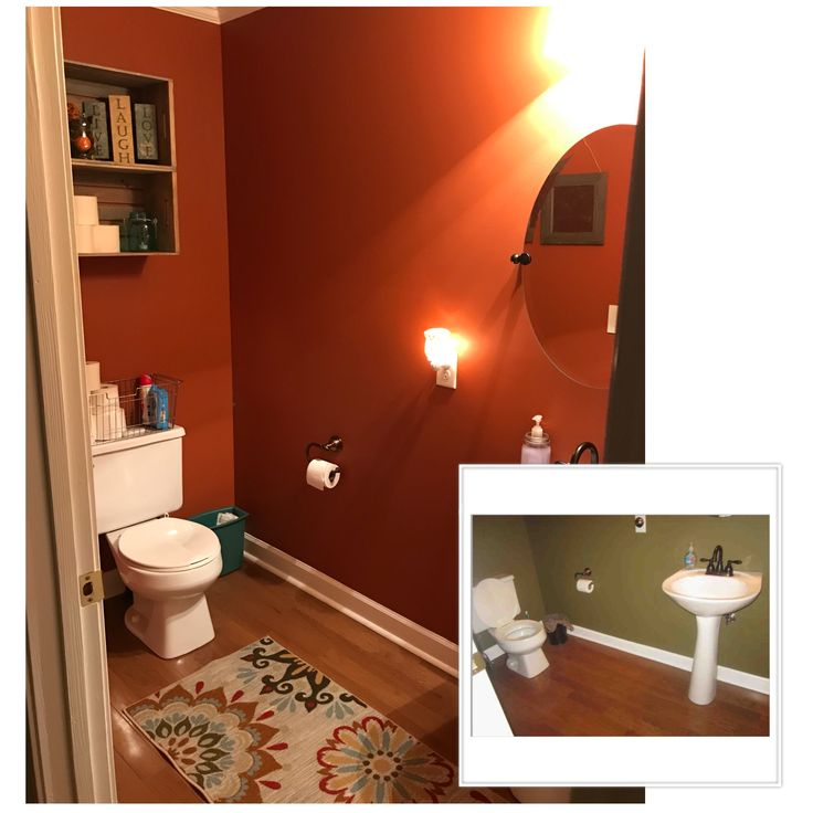 Burnt Orange Bathroom Makeover Pinteresthome