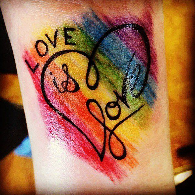 Love is Love!! Totally want this on my wrist .