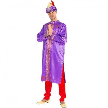 Mens Purple Bollywood Costume