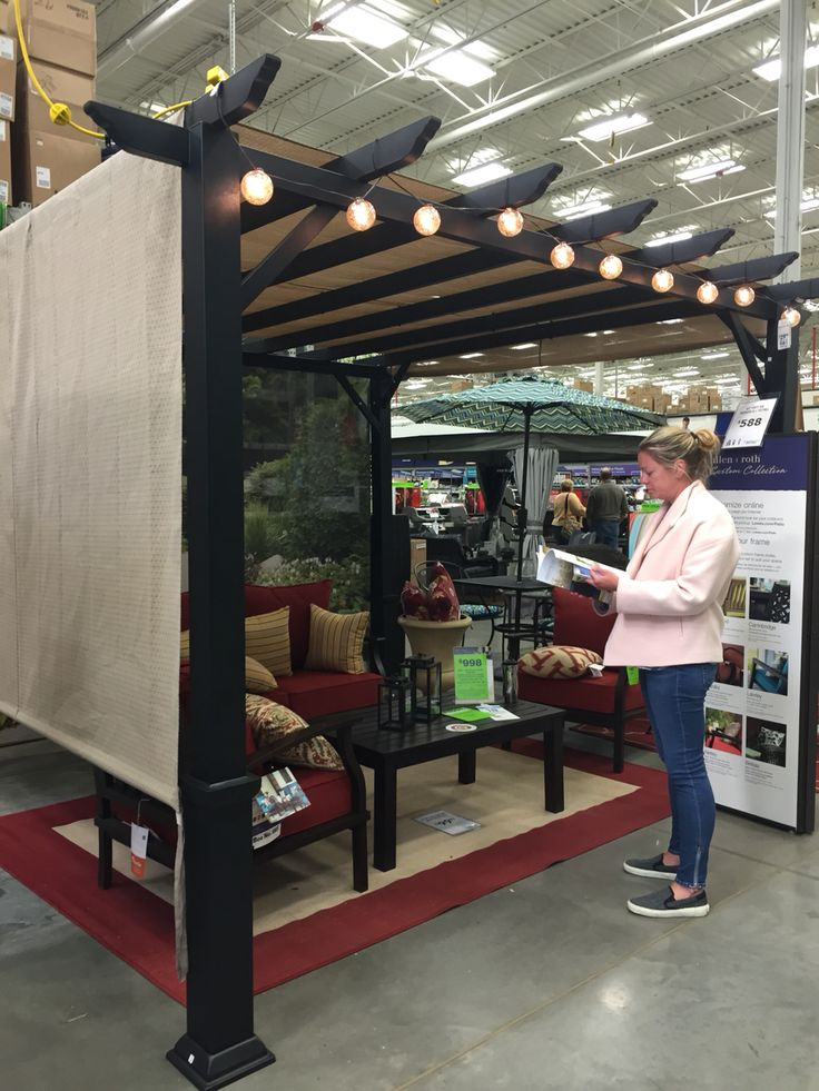 $588 Lowes Pergola, need to add rainproof top, no bug screens