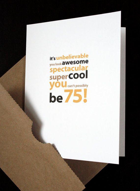 happy 75th birthday card  u2014 for him  her  friend  husband
