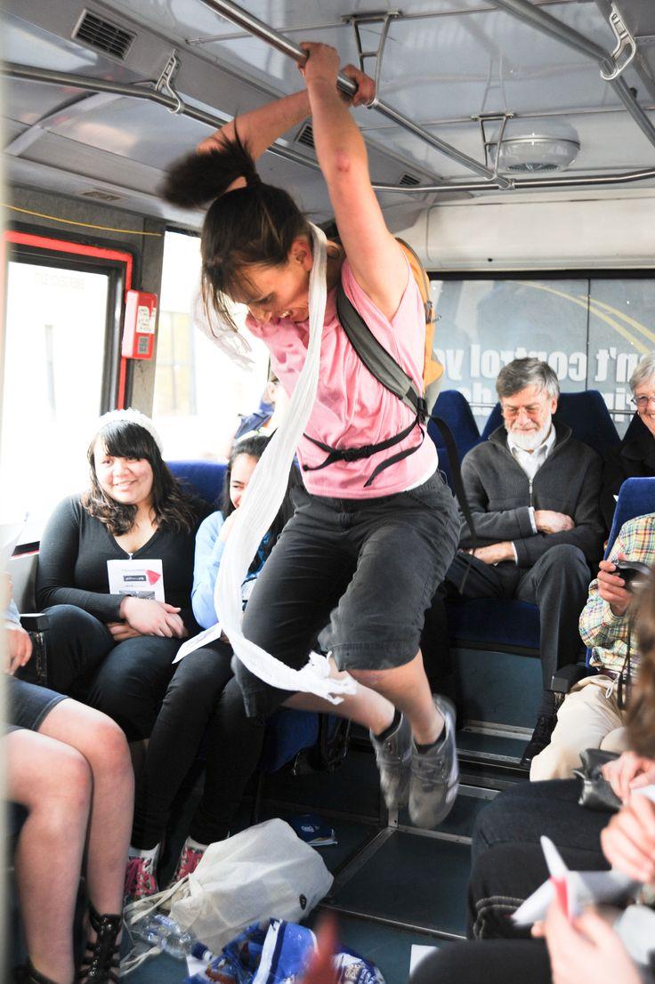 Back of the Bus. Java Dance Company. Otago Festival of the Arts. Dancer; Sacha Copland