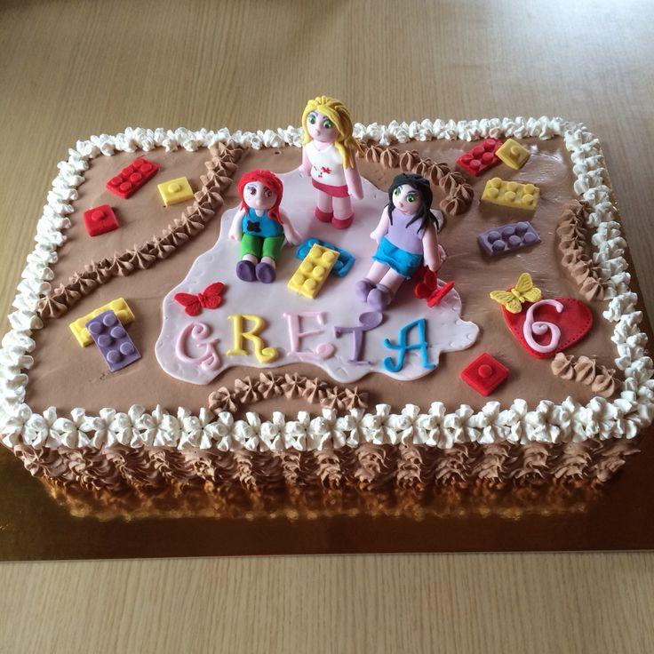 Torta di compleanno Lego Friends