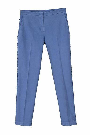 ROMY narrow leg pant in stretch cotton piquet, garment died (shine as a star)