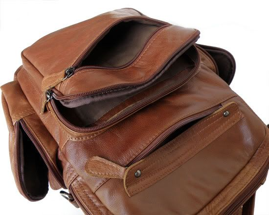 2751 Unique Design Vintage Leather Men's Brown Backpack Travel Bag_Backpacks_Men's Leather Bags_Shenzhen Jia Mei Da Leather Industry Co., Ltd.