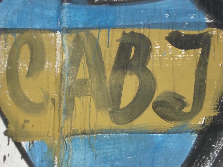foto propia. pintada callejera, en palermo.