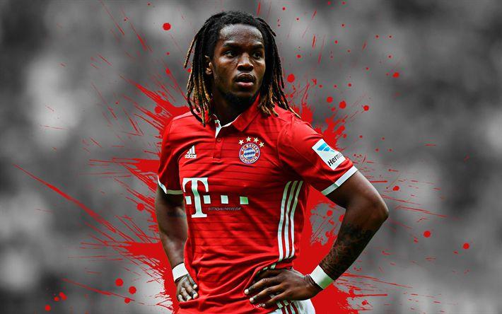Download Wallpapers Renato Sanches, 4k, FC Bayern Munich