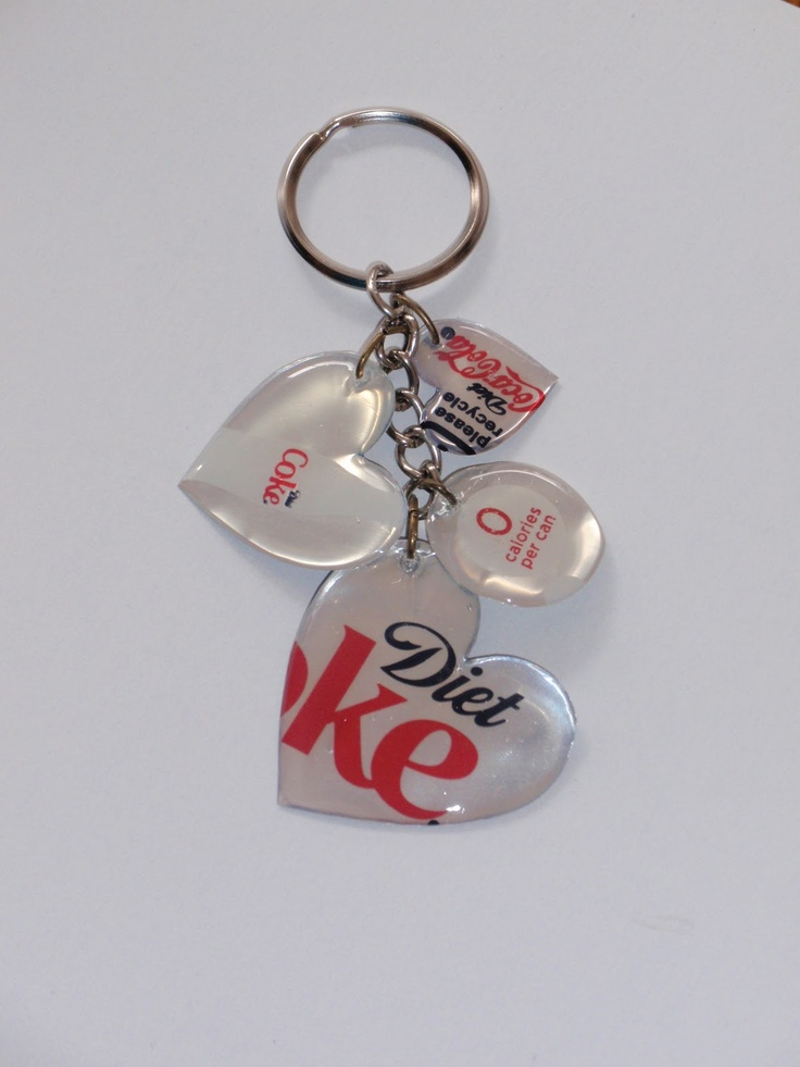 Diet coke key chain