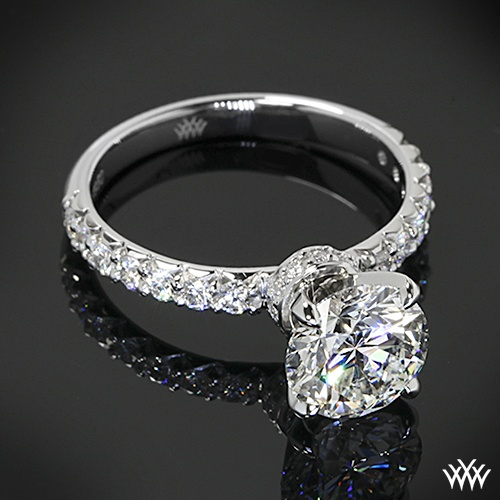 Custom Diamond Engagement Ring is set in platinum and holds 0.40ctw A CUT  ABOVE®