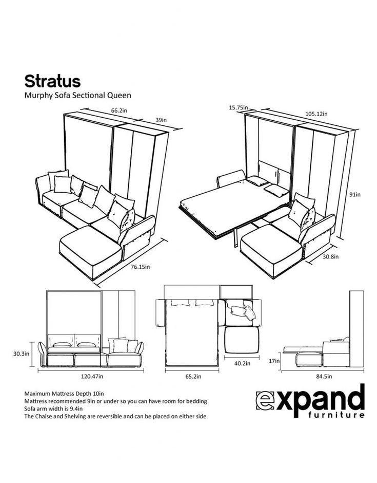 MurphySofa Stratus: Queen Sectional Sofa Set | Expand Furniture - Folding Tables, Smarter Wall Beds, Space Savers