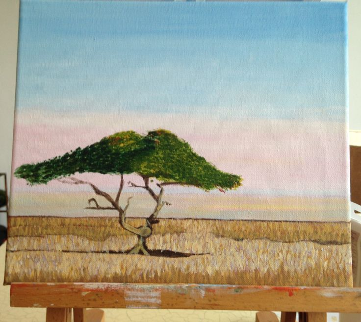 Africa - october 2016 - made by me - 26 x 30 cm - acrylic on canvas