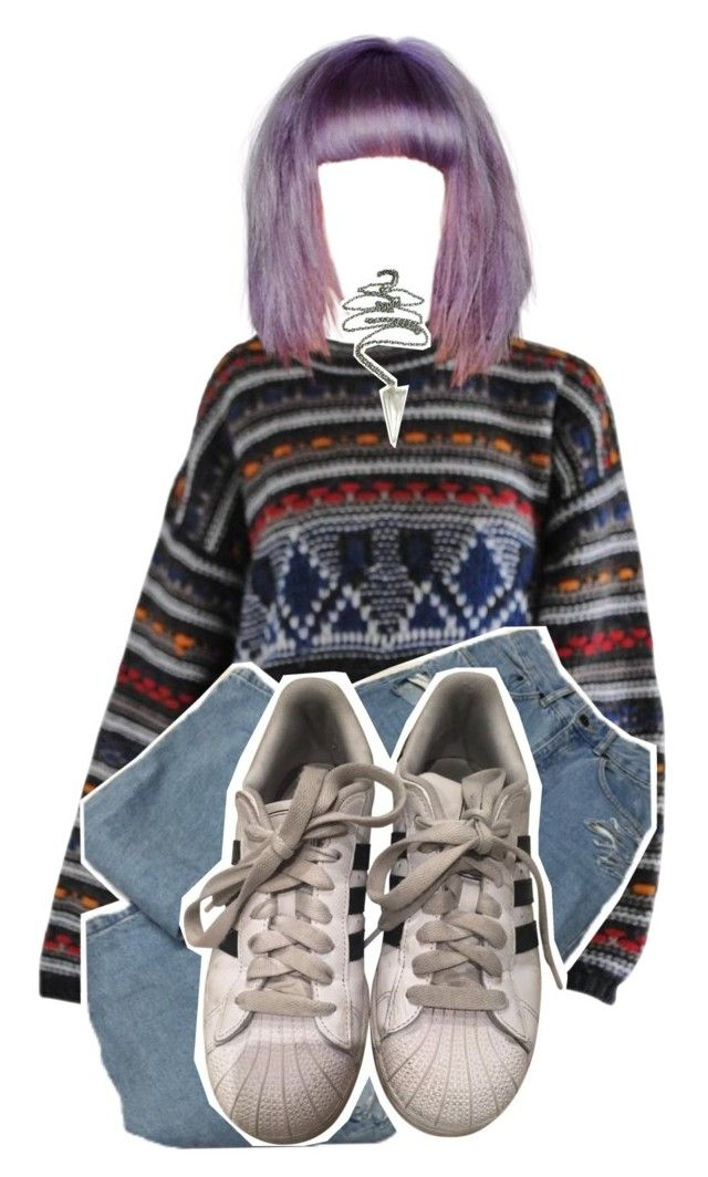 """nite"" by kaninekiller ❤ liked on Polyvore featuring Missoni and adidas"