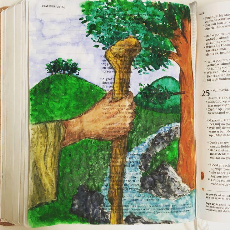 #Biblejournaling #psalm23 #schrijfbijbel