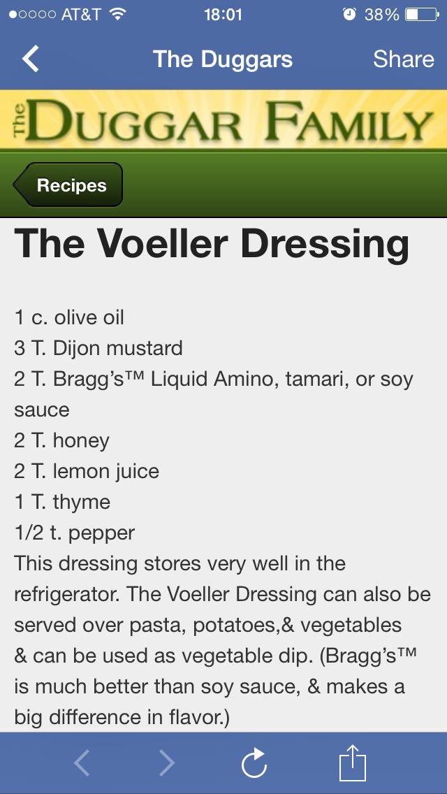 Duggar family salad dressing recipe