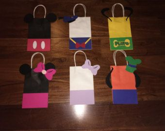 Mickey Mouse clubhouse party favor bag mickey by CreationsByNic