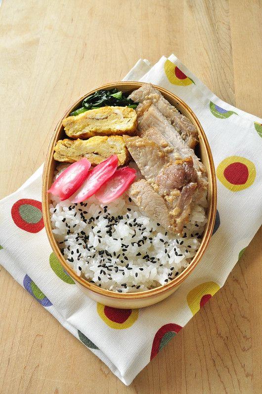 Japanese Bento 豚の醤油糀漬け弁当