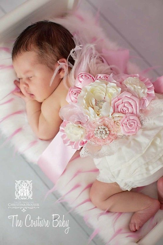 Awesome idea! Take pictures of with the maternity sash on. Then, when baby is born, put it on the baby. <3. I'm sure you could somehow work this out for a boy, too.