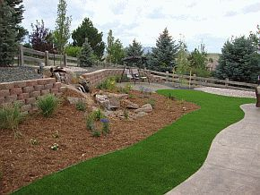 #Reader tip: Reduce up-front costs by using bands, ribbons, or islands of artificial turf to accent bands or fields of water-conserving plants and landscape.