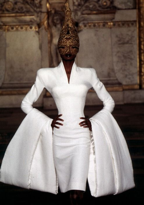 Alexander McQueen for Givenchy Spring 1997 Over the top but beautiful!
