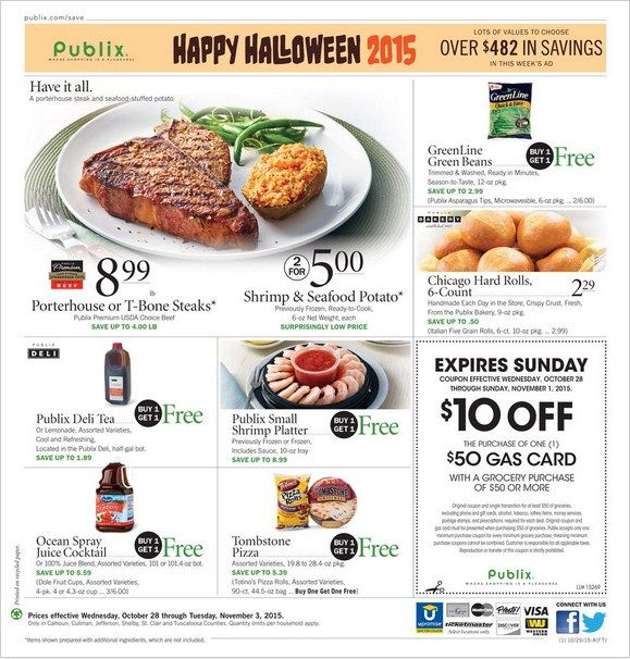 Publix Weekly Ad October 28 - November 3, 2015 - http://www.olcatalog.com/grocery/publix-weekly-ad.html