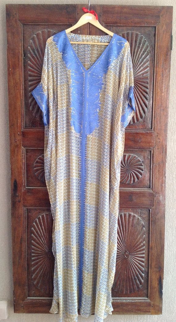 Long sheer caftan chiffon maxi dress by ArabianThreads on Etsy, $160.00