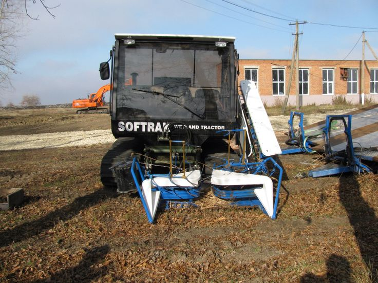 Softrak Reed harvester in traveling position  awaiting the harvesting season 2014