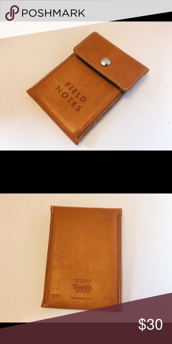 Field Notes Notebook/Passport Wallet Buttery leather notebook/passport wallet by Field Notes. Made by Tanner Leather Goods in Portland, Oregon. Made especially to fit Field Notes notebooks. Will only get better with age! Field Notes Bags Wallets