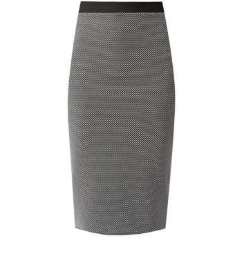 Cameo Rose Grey Pencil Skirt