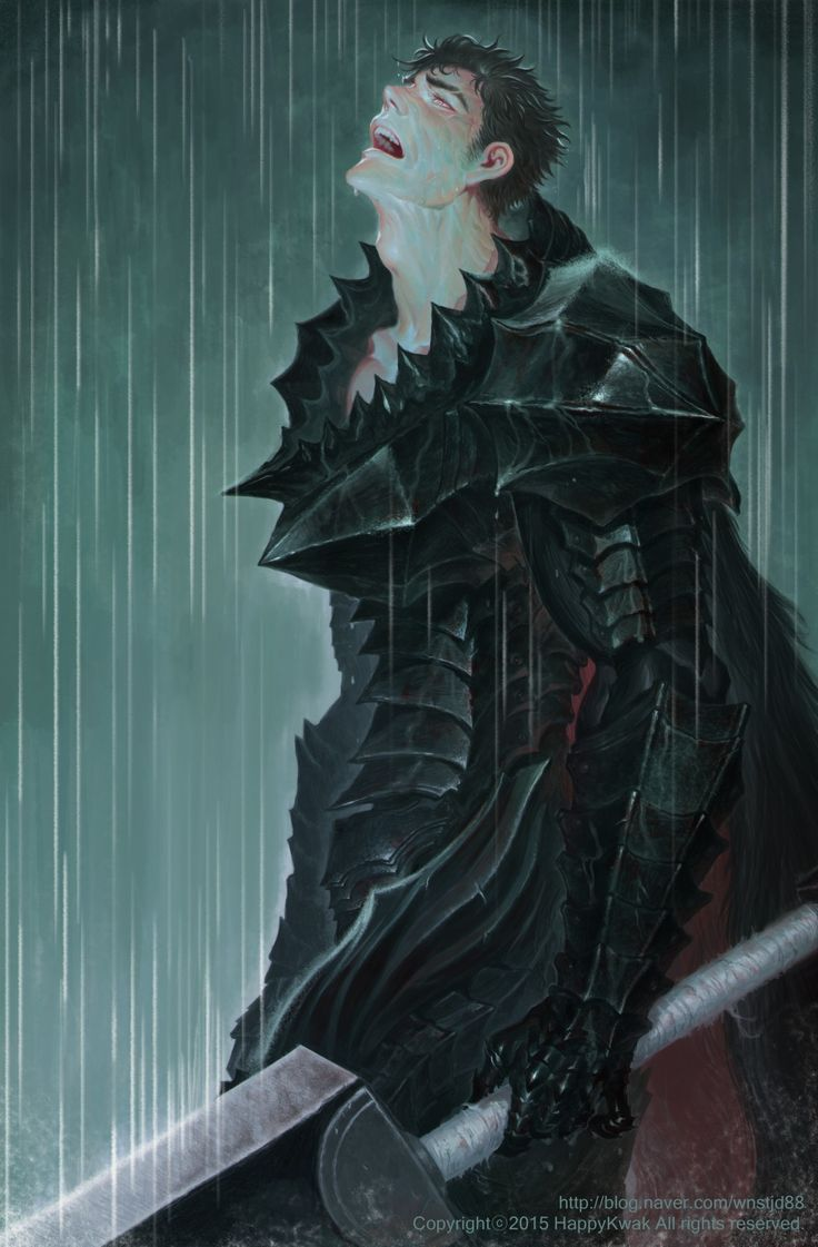 Guts from Berserk. Real men can cry, especially with all the stuff Guts had to deal with.