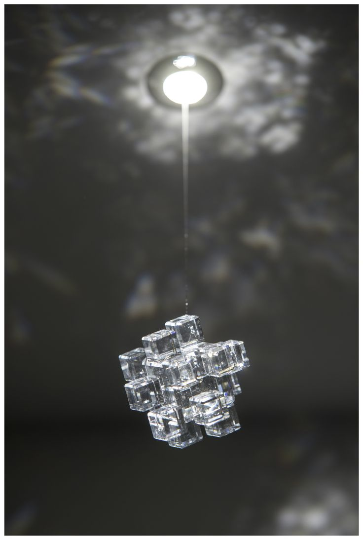 FLOP CUBE ART - LED spotlight made of stainless steel with crystal component. MADE WITH SWAROVSKI COMPONENTS.